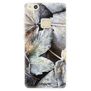 Silikónové puzdro iSaprio - Old Leaves 01 - Huawei P10 Lite
