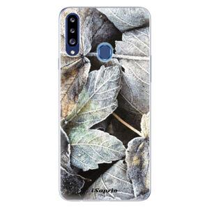 Odolné silikónové puzdro iSaprio - Old Leaves 01 - Samsung Galaxy A20s