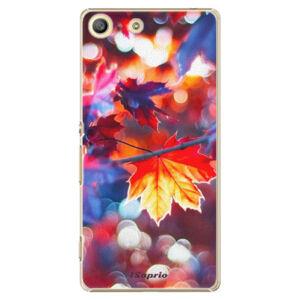 Plastové puzdro iSaprio - Autumn Leaves 02 - Sony Xperia M5