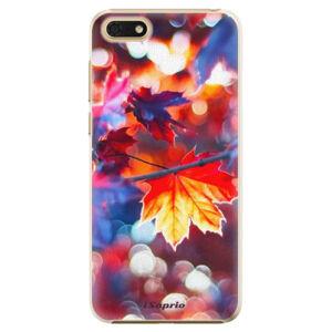 Plastové puzdro iSaprio - Autumn Leaves 02 - Huawei Honor 7S