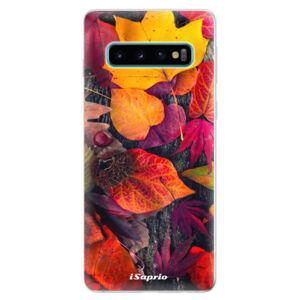 Odolné silikonové pouzdro iSaprio - Autumn Leaves 03 - Samsung Galaxy S10