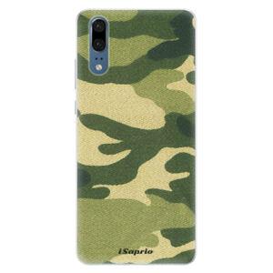 Silikónové puzdro iSaprio - Green Camuflage 01 - Huawei P20