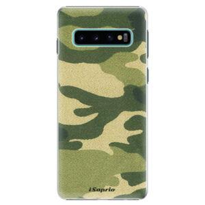 Plastové puzdro iSaprio - Green Camuflage 01 - Samsung Galaxy S10