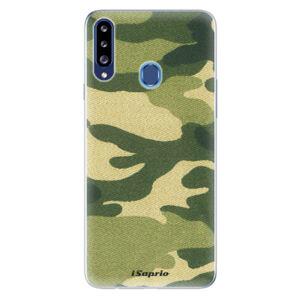 Odolné silikónové puzdro iSaprio - Green Camuflage 01 - Samsung Galaxy A20s
