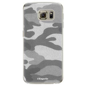 Plastové puzdro iSaprio - Gray Camuflage 02 - Samsung Galaxy S6 Edge Plus