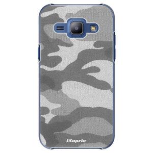 Plastové puzdro iSaprio - Gray Camuflage 02 - Samsung Galaxy J1