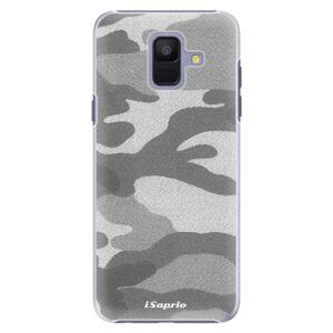 Plastové puzdro iSaprio - Gray Camuflage 02 - Samsung Galaxy A6