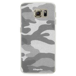 Silikónové puzdro iSaprio - Gray Camuflage 02 - Samsung Galaxy S6 Edge
