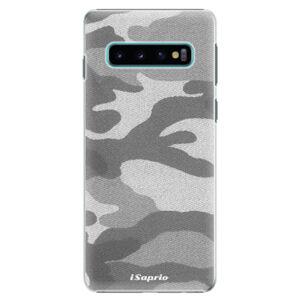 Plastové puzdro iSaprio - Gray Camuflage 02 - Samsung Galaxy S10