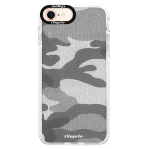 Silikónové púzdro Bumper iSaprio - Gray Camuflage 02 - iPhone 8