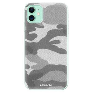 Odolné silikónové puzdro iSaprio - Gray Camuflage 02 - iPhone 11