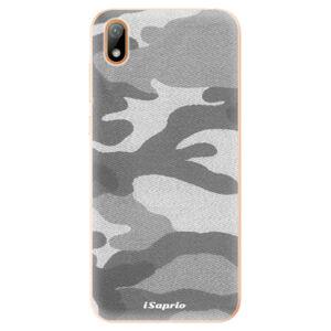 Odolné silikónové puzdro iSaprio - Gray Camuflage 02 - Huawei Y5 2019