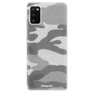 Odolné silikónové puzdro iSaprio - Gray Camuflage 02 - Samsung Galaxy A41