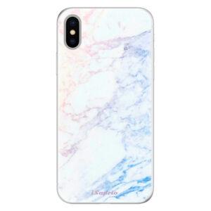 Silikónové puzdro iSaprio - Raibow Marble 10 - iPhone X