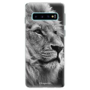 Plastové puzdro iSaprio - Lion 10 - Samsung Galaxy S10