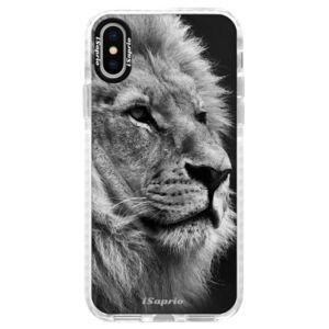 Silikónové púzdro Bumper iSaprio - Lion 10 - iPhone X
