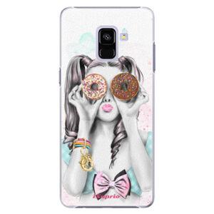 Plastové puzdro iSaprio - Donuts 10 - Samsung Galaxy A8+