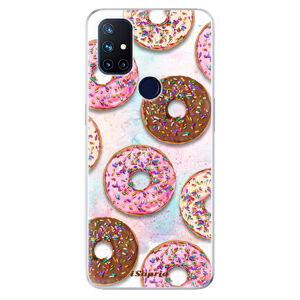 Odolné silikónové puzdro iSaprio - Donuts 11 - OnePlus Nord N10 5G