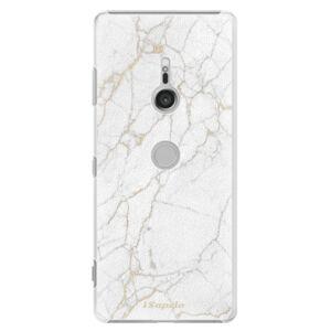 Plastové puzdro iSaprio - GoldMarble 13 - Sony Xperia XZ3