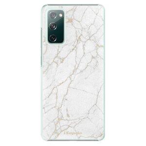 Plastové puzdro iSaprio - GoldMarble 13 - Samsung Galaxy S20 FE
