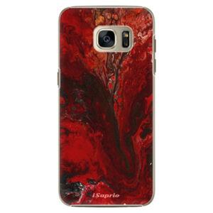 Plastové puzdro iSaprio - RedMarble 17 - Samsung Galaxy S7 Edge