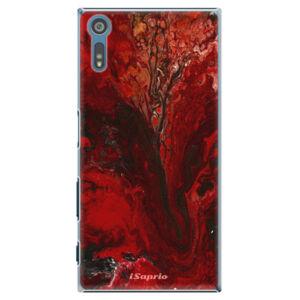 Plastové puzdro iSaprio - RedMarble 17 - Sony Xperia XZ