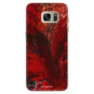 Silikónové puzdro iSaprio - RedMarble 17 - Samsung Galaxy S7 Edge