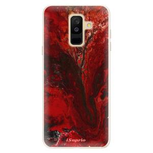 Silikónové puzdro iSaprio - RedMarble 17 - Samsung Galaxy A6+