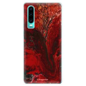 Odolné silikonové pouzdro iSaprio - RedMarble 17 - Huawei P30