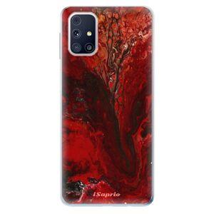 Odolné silikónové puzdro iSaprio - RedMarble 17 - Samsung Galaxy M31s