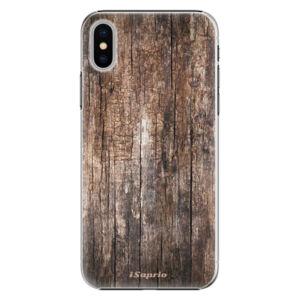 Plastové puzdro iSaprio - Wood 11 - iPhone X