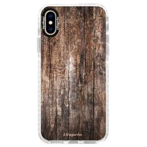 Silikónové púzdro Bumper iSaprio - Wood 11 - iPhone XS