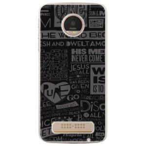 Plastové puzdro iSaprio - Text 01 - Lenovo Moto Z Play