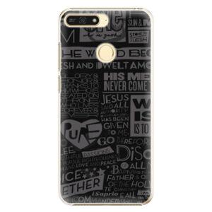 Plastové puzdro iSaprio - Text 01 - Huawei Honor 7A