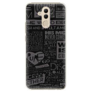 Plastové puzdro iSaprio - Text 01 - Huawei Mate 20 Lite