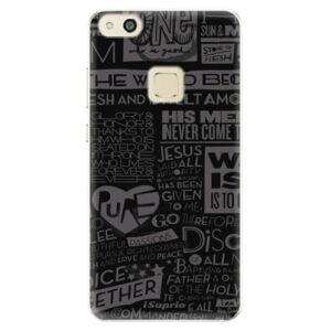 Silikónové puzdro iSaprio - Text 01 - Huawei P10 Lite