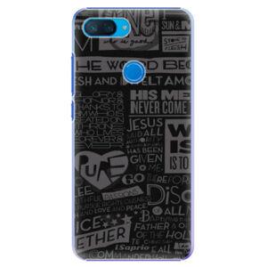 Plastové puzdro iSaprio - Text 01 - Xiaomi Mi 8 Lite