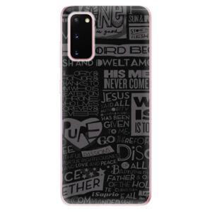 Odolné silikónové puzdro iSaprio - Text 01 - Samsung Galaxy S20