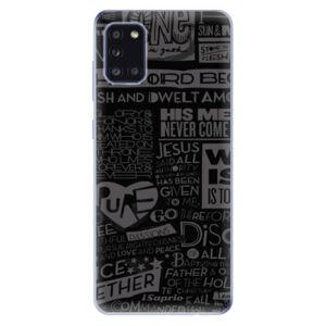 Odolné silikónové puzdro iSaprio - Text 01 - Samsung Galaxy A31