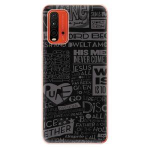 Odolné silikónové puzdro iSaprio - Text 01 - Xiaomi Redmi 9T