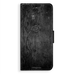 Flipové puzdro iSaprio - Black Wood 13 - Samsung Galaxy A8 Plus
