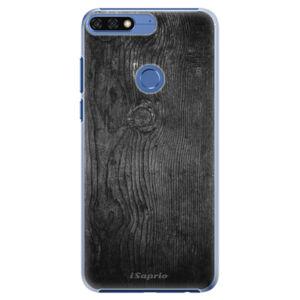 Plastové puzdro iSaprio - Black Wood 13 - Huawei Honor 7C