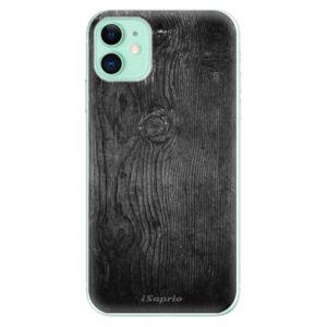 Odolné silikónové puzdro iSaprio - Black Wood 13 - iPhone 11