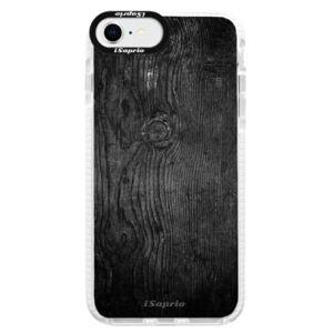 Silikónové puzdro Bumper iSaprio - Black Wood 13 - iPhone SE 2020