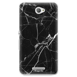 Plastové puzdro iSaprio - Black Marble 18 - Sony Xperia E4