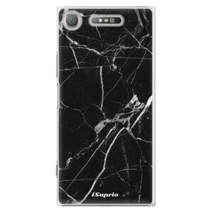 Plastové puzdro iSaprio - Black Marble 18 - Sony Xperia XZ1