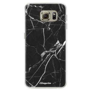 Silikónové puzdro iSaprio - Black Marble 18 - Samsung Galaxy S6 Edge