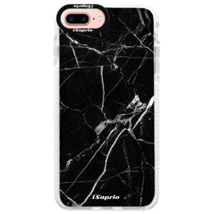 Silikónové púzdro Bumper iSaprio - Black Marble 18 - iPhone 7 Plus