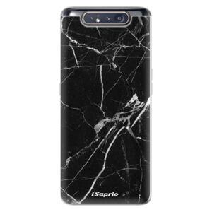Odolné silikónové puzdro iSaprio - Black Marble 18 - Samsung Galaxy A80