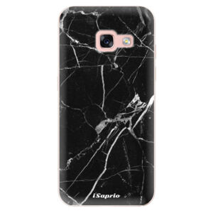 Odolné silikónové puzdro iSaprio - Black Marble 18 - Samsung Galaxy A3 2017